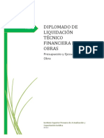 Nuevo Módulo 2 Liquidación Técnico Financiera de Obras