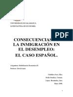 consecuencias de la inmigracion en el empleo el caso español