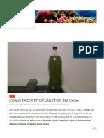 Academiadoaquario Com Br Algas Como Fazer Fitoplancton Em Casa