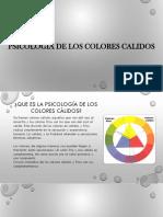 Psicologia de Los Colores Calidos