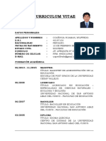 Curriculum Vitae - Wilfredo Ccañihua Huaman