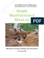 SLOPE MAINTENANCE MANUAL