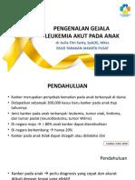 Pengenalan Gejala Leukemia Akut Pada Anak_dr Aulia