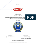 Project Report of Parle Product