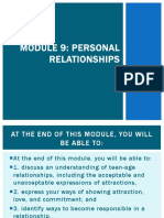 MODULE 9 Personal Relationships