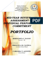 Editable Mid Year Review Portfolio 1 Cover Page 2