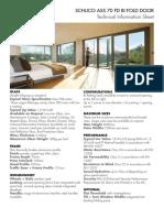 Schuco ASS 70 FD Bi Fold Door - Product Specification Sheet-Jan_18