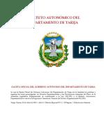 Estatuto Autonómico TARIJA