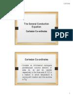 General Conduction Equation - Cartesian Coordinates