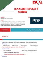 2°Empresa-Const y Cierre