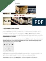 Zara Inditex Marketing Mix
