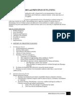 Principle of Planning Moadule