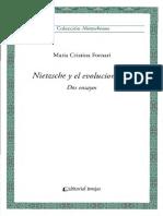 Nietzsche y El Evolucionismo Dos Ensayos - Maria Cristina Fornari