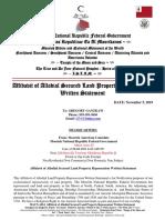 AhrenAriesEl_Affidavit of Allodial Secured Land Property Repossession Written Statement