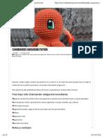 Charmander amigurumi patrón   CrochetyAmigurumis.com