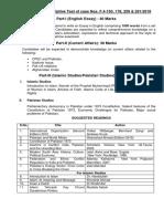 Syllabus for Descriptive Test for Case No. F.4-150-178-259- 261-2018