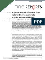 Superior removal of arsenic from water with zirconium metalorganic framework UiO-66.pdf