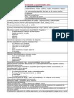 Criterios de Evaluación de 5 Años