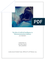 The Role of Artificial Intelligence in Telecommunications Industry