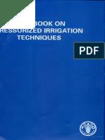 Handbook on Pressurized Irrigation Techniques