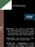 History of Mineralogy