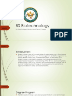 BS Biotechnology
