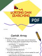 Algor-2018 Searching Sorting Dengan Array