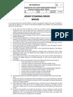 Company Bridge Standing Order
