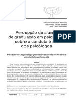 percepção do aluno de graduação em psicologia sobre a conduta ética dos psicólogos