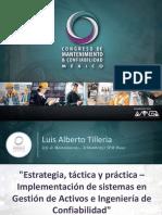 Estrategia Tactica y Practica Implementacion de Sistemas en Gestion de Activos Luis Alberto Tilleria
