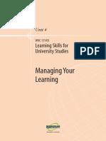 Learning Skills for Uni Studies U4