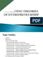 Competing Theories of Entrepreneurship