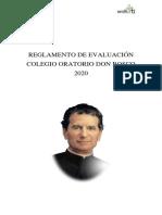 Reglamento de Evaluacin 2020