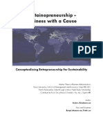 [MASTER THESIS, 2007] Sustainopreneurship - Business with a Cause. Conceptualizing Entrepreneurship for Sustainability.