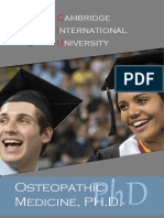 Doctor Osteopathic Medicine PHD