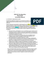Pz de Cuerda Vibrante VW2100 Revision de Calibracion en Campo