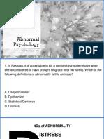 Abnormal Psychology V2