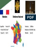 Bandera Emblema Nacional Torre Eiffel