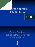 K6 - Critical Appraisal EBM Harm