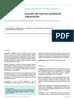Técnicas de reparación de hernias umbilicales