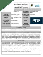 PLAN PEDAGÓGICO GENERAL DE CADA TALLER DE FORMACIÓN EFARTE 2019