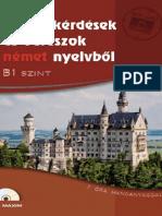 Színes kérdések és válaszok német nyelvből B1