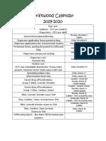 driftwood calendar 2019-2020