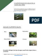 Las Corrientes Superficiales de Agua en La Costa