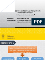 Review of paper Maria Tsipouridou Audit Opinion and Earnings Management