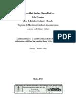 Analisis Critico de la Planificación Participativa (Daniela O. Parra).pdf