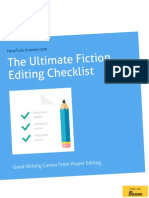 The Ultimate Fiction Editing Checklist