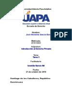 Tarea 3 Introduccion Al Derecho Privado