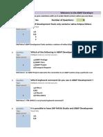 Copy of ABAP Development Tools Quiz