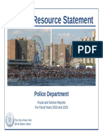 District Resource Statement Vol. 12 for NYPD